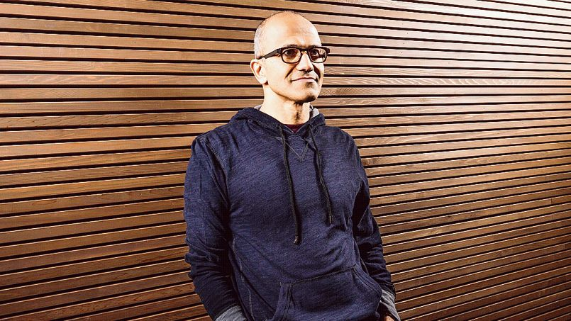 Satya Nadella, executive vice president of Microsoft's Cloud and Enterprise group, is seen in this undated Microsoft handout photograph