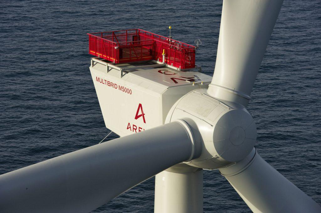 Alpha Ventus Wind farm, Germany. AREVA Wind.
